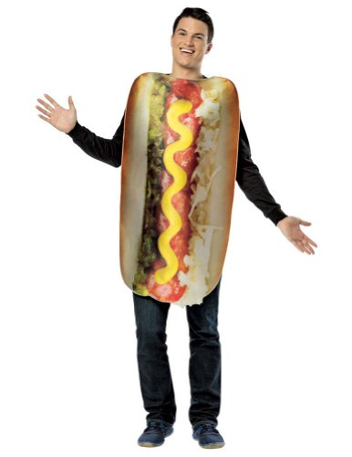 Halloween Costumes Item - Get Real Loaded Hot Dog Adult Costume
