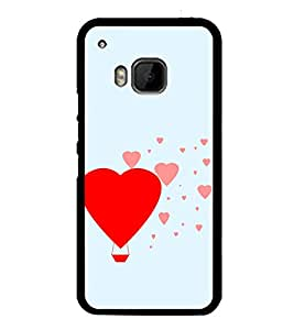 Hearts 2D Hard Polycarbonate Designer Back Case Cover for HTC One M9 :: HTC One M9S :: HTC M9 :: HTC One Hima