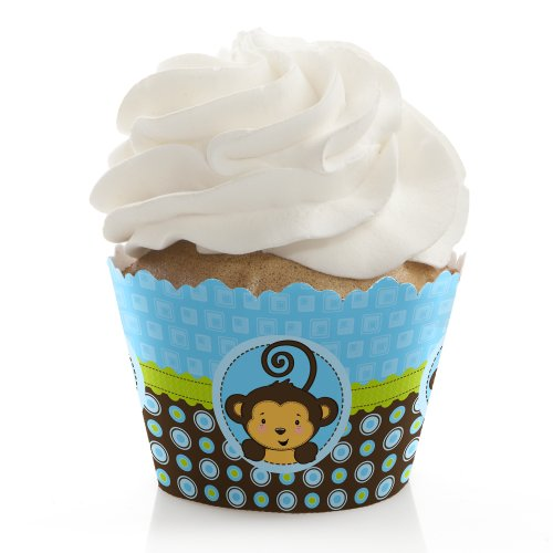 Monkey Boy - Cupcake Wrappers (Set Of 12)