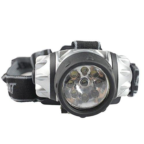 Amjimshop Vovotrade(Tm) New 9 Led Headlamp Hiking Camping Head Gear Safety Bike Night Light