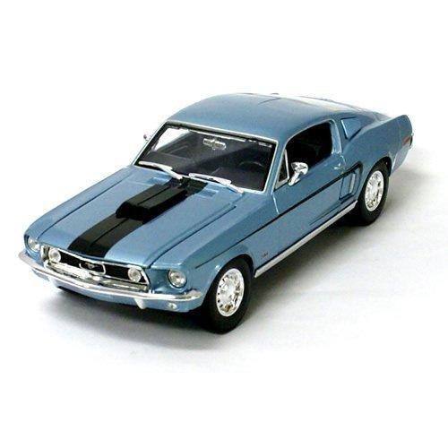 118maisto-1968-ford-mustang-gt-cobra-jet-bl-maisto-die-cust