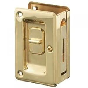 Stanley Hardware Locking Pocket Door Pull, Bright Brass #404040