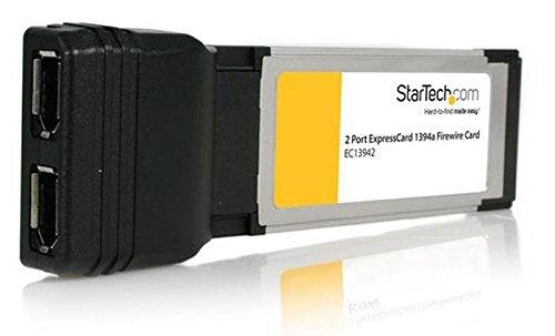 StarTech.com EC13942 Carte Adaptateur ExpressCard/34 vers 2 Ports 1394a FireWire400 1x ExpressCard 34 2x FireWire 400 Femelle