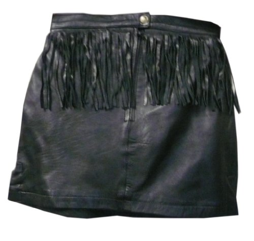 Womens Fringed Leather Mini Skirt  Leatherbull (Free U.S. Shipping)