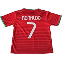 Buy 2014 PORTUGAL HOME CRISTIANO RONALDO FUTBOL FOOTBALL SOCCER KIDS JERSEY FREE GIFT INCLUDED 12-13 YEARS by FPF