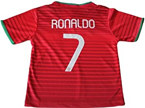 Buy 2014 PORTUGAL HOME CRISTIANO RONALDO FUTBOL FOOTBALL SOCCER KIDS JERSEY FREE GIFT INCLUDED 10-11 YEARS by FPF
