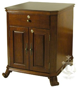 FABULOUS LARGE CAPACITY 1500 CIGAR END TABLE HUMIDOR