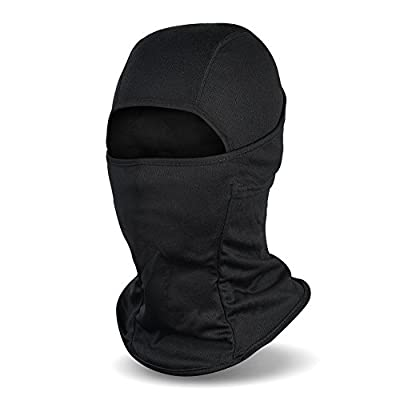 Balaclava Ski Mask, Winter Fleece Windproof Face Mask for Men and Women, Black