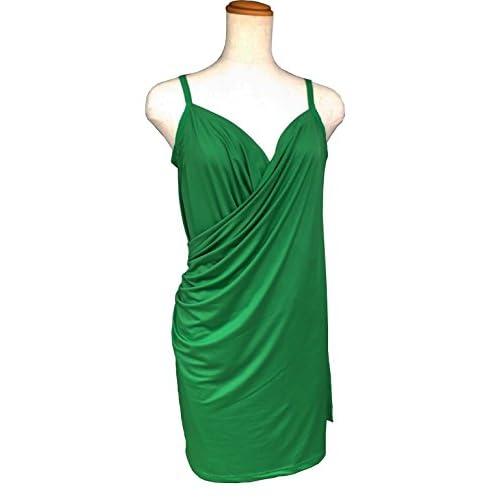 JapaNice 水着 ビキニ に 合う レディース ファッション ビーチ 巻 タオル かわいい おしゃれ な セクシー ドレスになる  高吸水 速乾性 素材 スイミング 水泳 プール フィットネス にも mfi-s-sea251 (GREEN)