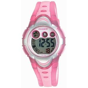 LED Waterproof Sports Digital Watch for Children Girls Boys (Pink)