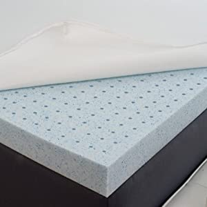 Amazon Com Sleep Joy 174 2 Quot Gel Memory Foam Mattress Topper