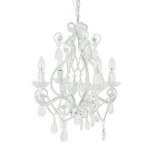 Tadpoles Four Bulb Chandelier, White