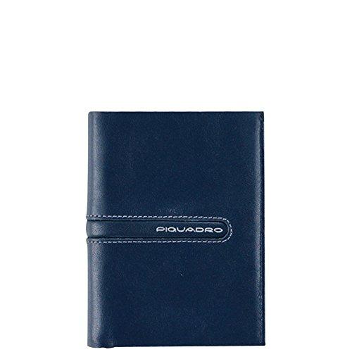 Portafoglio uomo Piquadro | Porta carte di credito e documenti | Linea Freeway | PU1393FW-Blu/Grigio