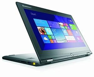 Lenovo Yoga 2 11 11.6-inch Touch Convertible Laptop - Black (Quad Core Pentium N3520 2.17GHz, 4GB RAM, 500GB HDD, Integrated Intel Graphics, No DVDRW, Windows 8.1 Home Premium)