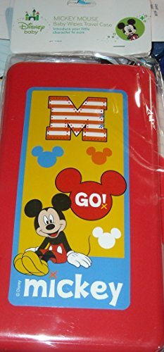 Disney Baby - Mickey Mouse Baby Wipes Travel Case - Go Mickey - Red - 1