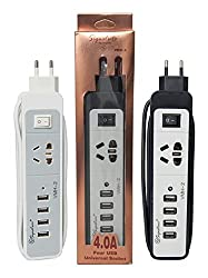Samsung Compatible Signature Brand VMH-2 4.0A 4-Port USB Universal Socket Wall Charger Portable Travel Adapter for Apple iPhone/Samsung Mobiles/Android Tablets/Smartphones