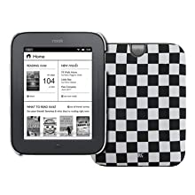 Black and White Checkered Stealth Design Hard Case Cover for Barnes and Noble Nook Simple Touch / Noble Nook Simple...