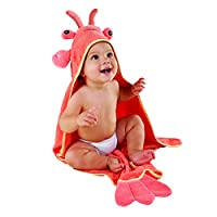 Baby Aspen, Lobster Laughs Lobster Hooded Towel, Red, 0-9 Months from Baby Aspen