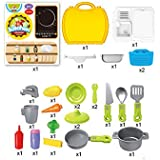 Magideal Kids Children Builder Tool Construction Kit Pretend Role Play DIY Set Yellow