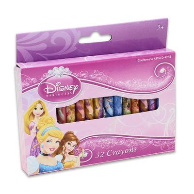 1 piece of DISNEY PRINCESS 32-COUNT CRAYONS IN A BOX - 1