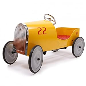 Baghera Goldini Pedal Car, Yellow/Red