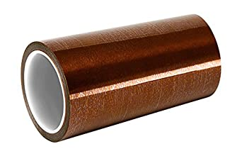 """TapeCase Amber Polyimide/Silicone Adhesive/Kapton Film Tape, Converted from 3M 5413, -100 to +500 degrees F Temperature Range, 36"""" Length, 4.72"""" Width, Roll"""