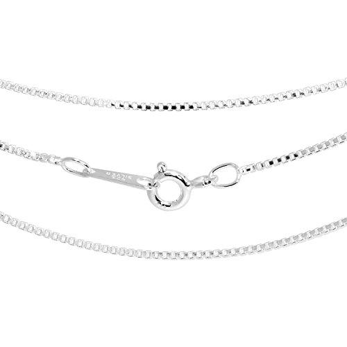 Shinjuku silver of Silver 925 Venetian chain width 0.9 mm length 38 cm-60 cm (45 cm) (storage pouch / silver polishing cloth set)
