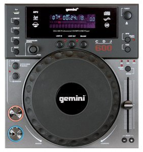 Lowest Prices! Gemini CDJ 600 Professional Table Top Cd Player with CD/MP3/USB Capabilities and Buil...
