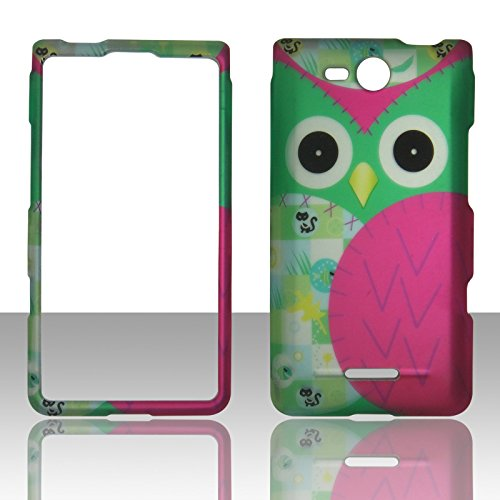 2D Green Owl LG Lucid 4G LTE VS840 Verizon Case Cover Phone Snap on Cover Cases Faceplates (Verizon Lg Lucid 4g compare prices)