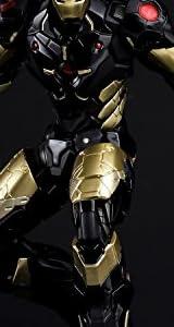 RE:EDIT IRON MAN #06 MARVEL NOW!ver. BLACK X GOLD ノンスケールPVC&ABS製塗装済み可動フィギュア