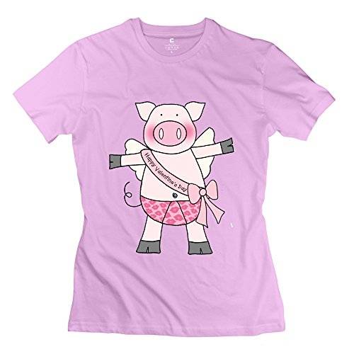 TBTJ-O Piggy Valentine T-shirts For Lady