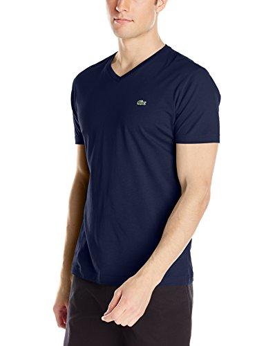 Lacoste Men's Short Sleeve Jersey Pima V-Neck