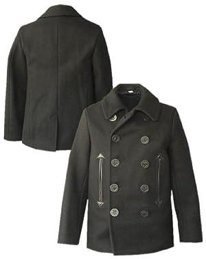(バズリクソンズ) BUZZ RICKSON\'Sウイリアムギブソンデザイン ブラック Pコート br12394 (L (40))