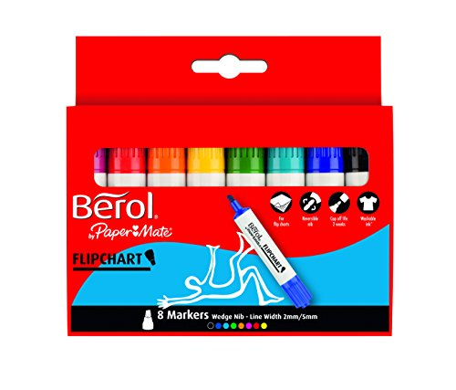 berol-s0377960-flipchart-marker-auf-wasserbasis-dry-safe-keilspitze-8-stuck-farblich-sortiert