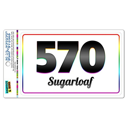Area Code Rainbow Window Sticker 570 Pennsylvania PA Shawnee - Washingtonville - Sugarloaf (Sugarloaf Decal compare prices)