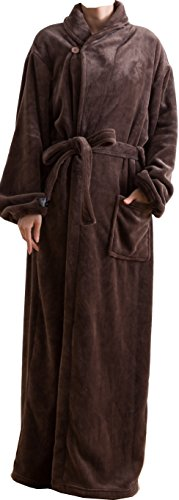 mofua モフア プレミアム マイクロファイバー 着る 毛布(ガウンタイプ) フリー ブラウン 50036606