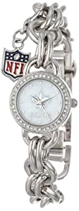 Game Time Ladies NFL-CHM-NO Charm NFL Series New Orleans Saints 3-Hand Analog Watch by Game Time