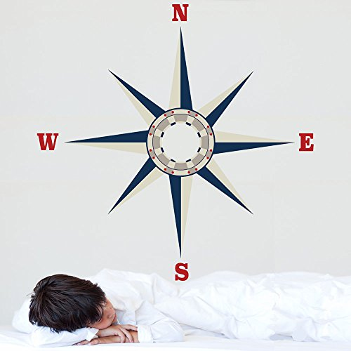 Large Nautical Compass Removable Peel and Stick Wall Decal