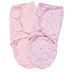 Summer Infant 2 Pack Cotton Knit Swaddleme, Butterfly (Small/Medium)
