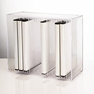 US Acrylic® Clear Stackable DVD Holder - holds 14 standard DVD cases