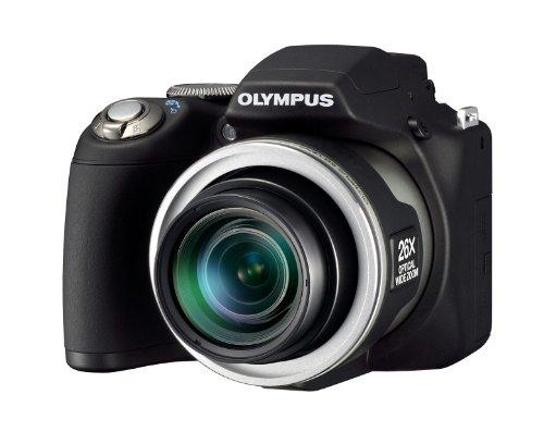 Olympus SP-590UZ Compact Digital Camera (12MP, 26x Wide Optical Zoom)