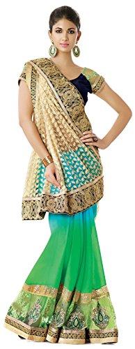 Anushree Sarees Work Net Saree With Blouse Piece