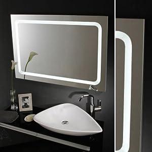 Oramics exklusiver Badspiegel mit umlaufender Beleuchtung  Extra Breite  Eleganter Lichtspiegel 100x65 cm  BaumarktBewertungen und Beschreibung
