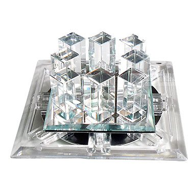 Led Crystal Flush Mount, 1 Light, Modern Dainty Metal