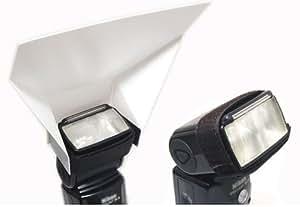 Mcoplus - Portable Universal Universal Bounce Reflector for Speedlights, - Easy to use - for Canon, Nikon, Olympus, Pentax, Sony, Sigma, Minolta Metz Sigma Sunpak, Yongnuo & Other External Flash Units,YN-460,YN-465,YN-560,580ex,420ex,380ex,430ex,SB-900,SB-800,SB-600