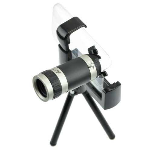 """Generic 6X Zoom Telescope Camera Lens Kit With Tripod And Clear Case For Iphone 3G 3Gs 5.5"""" X 4.7"""" X 3.8"""" Black"""