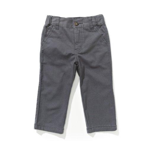 Boys Basic Grey Twill Pant