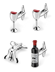 4 Wine Mix Cufflinks