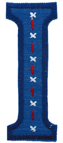 Alphabet Kids - Trickyboo I Denim 8-9Cm - Letters To Kids-Block Letters-Fabric Letters-Patches Fabric-Fabric Iron On Patches front-68083