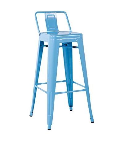 Lo+Demoda Set Sgabello 2 pezzi Ural Square Blu